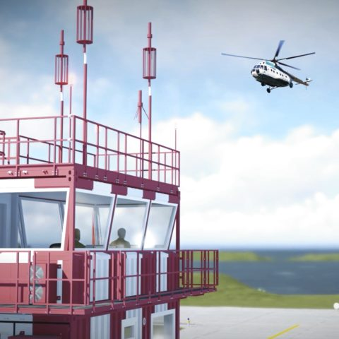DELIVERY OF MODULAR TOWER TO SEVERNY AIRFIELD IN ROSTOV-ON-DON