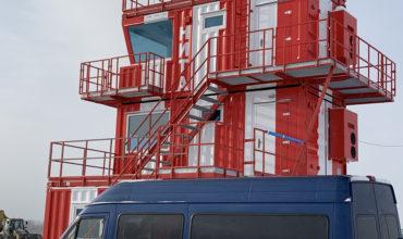 Modular Tower delivered to Tobolsk airfield